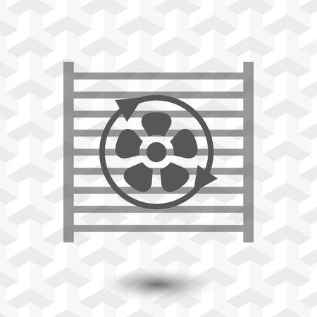 Kühler Kühlung Symbol Symbol Vektor Vektor-Illustration Flachen ...