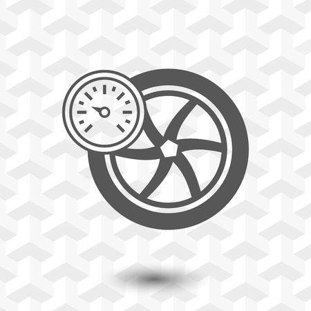 air pressure sensor icon stock vector illustration flat design