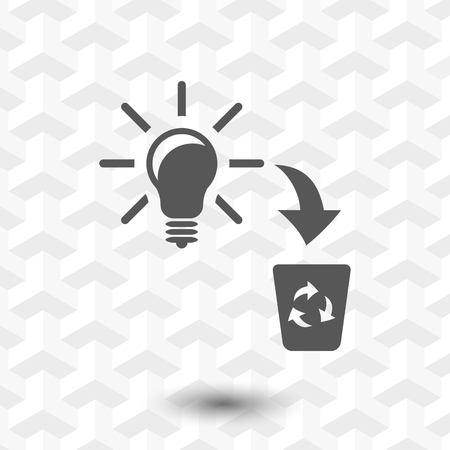 bad idea icon stock vector illustration flat design