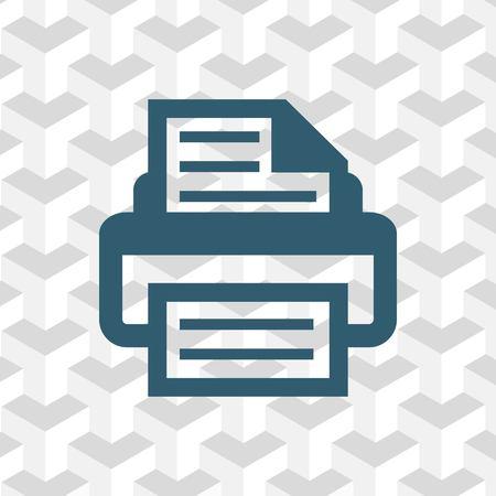 copy machine: print icon stock vector illustration flat design
