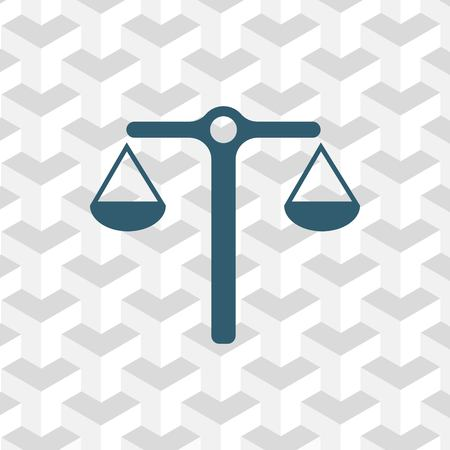justice scale: scales icon stock vector illustration stock vector illustration flat design