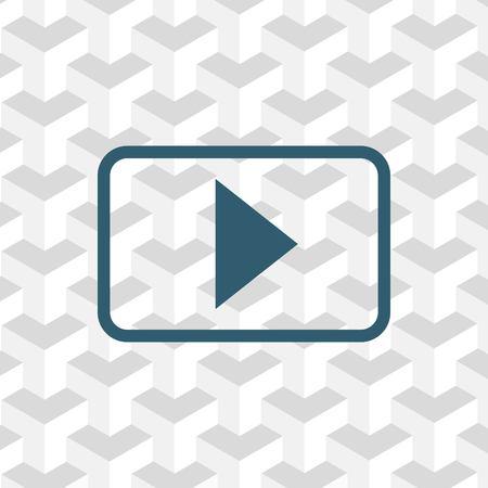 movie film: icon stock vector illustration flat design style Illustration