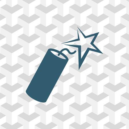 dinamita: Dinamita icono stock ilustración vectorial plano diseño