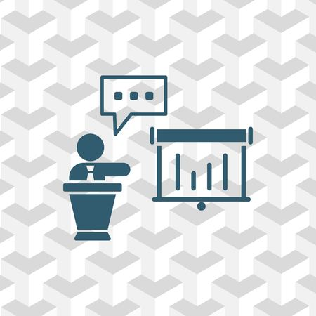 congressman: lectern with microphone icon stock vector illustration flat design