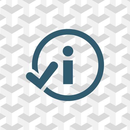 inform information: info icon stock vector illustration flat design