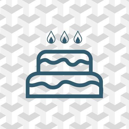 cupcake illustration: icon stock vector illustration flat design style Illustration