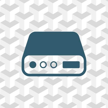 terabyte: icon stock vector illustration flat design style Illustration