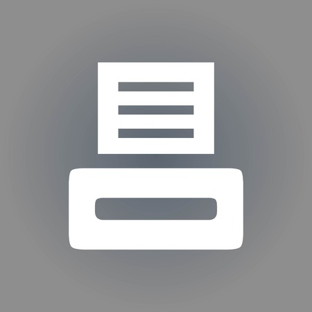 inkjet: icon stock vector illustration flat design style Illustration