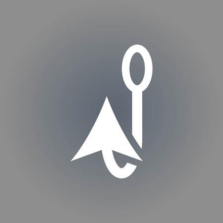 fishhook: icon stock vector illustration flat design style Illustration