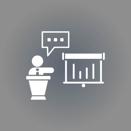 congressman: icon stock vector illustration flat design style Illustration
