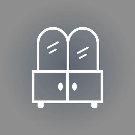 reflection in mirror: mirror icon stock vector illustration flat design