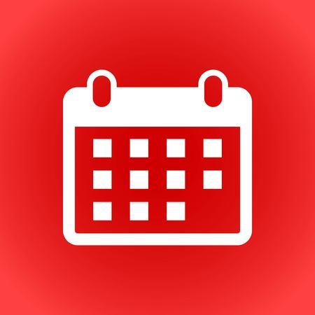 calendar icon stock vector illustration flat design Illustration