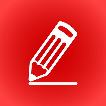 pencil  icon  stock vector illustration flat design