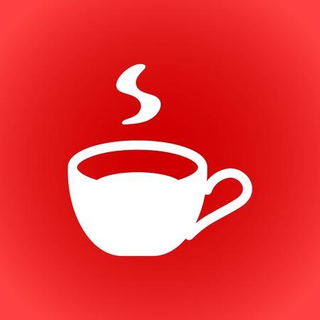 Cup icon stock vector illustration flat design Illustration