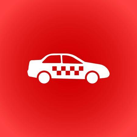 taxi icon stock vector illustration flat design