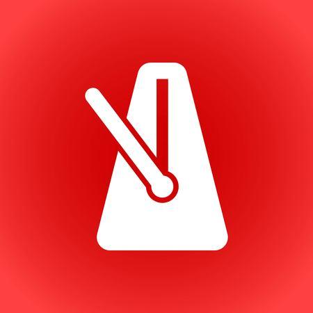metronome icon stock vector illustration flat design