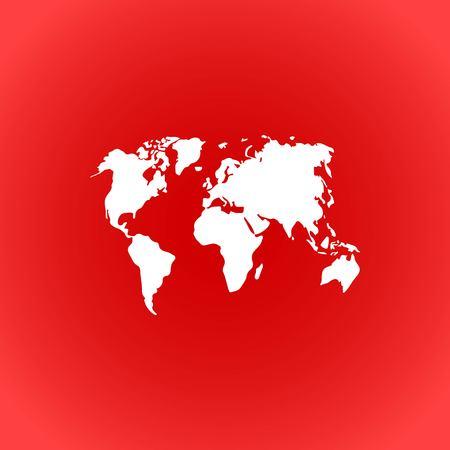 world map icon stock vector illustration flat design Illustration