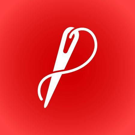 needle and thread icon stock vector illustration flat design