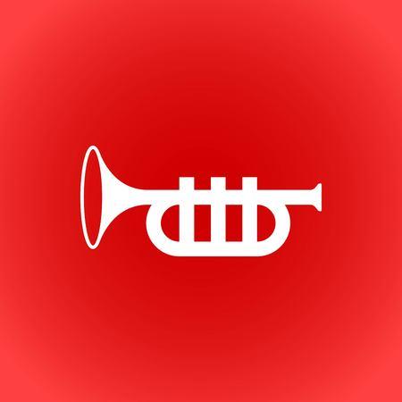 trompette icône vector stock illustration design plat