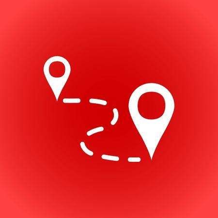 global communication: label for map icon stock vector illustration flat design Illustration