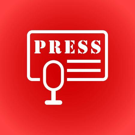 information medium: press icon stock vector illustration flat design Illustration