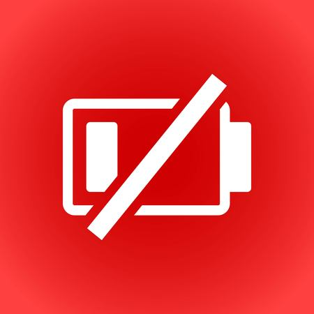 battery vector icon stock vector illustration flat design