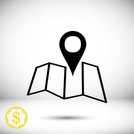 flat earth: navigation icon stock vector illustration flat design