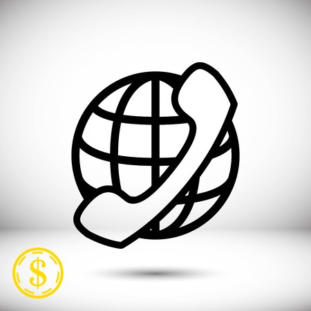 world receiver: Icon stock vector illustration flat design style