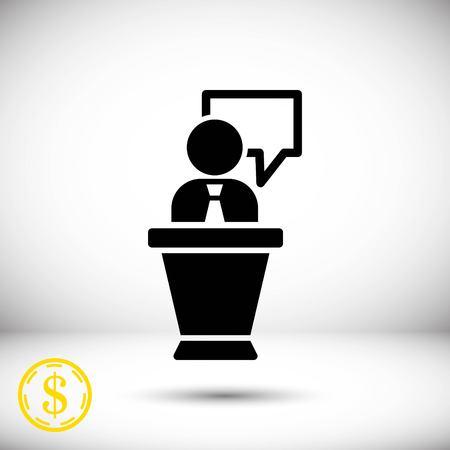 Icône stock illustration vectorielle style de conception plate