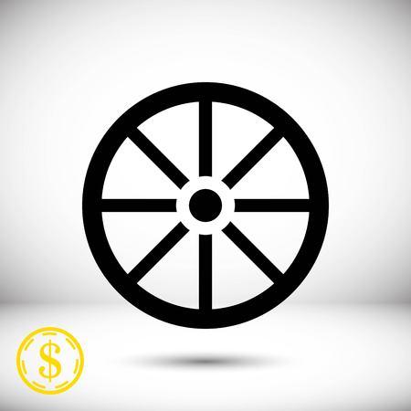 one wheel bike: wheel icon stock vector illustration flat design