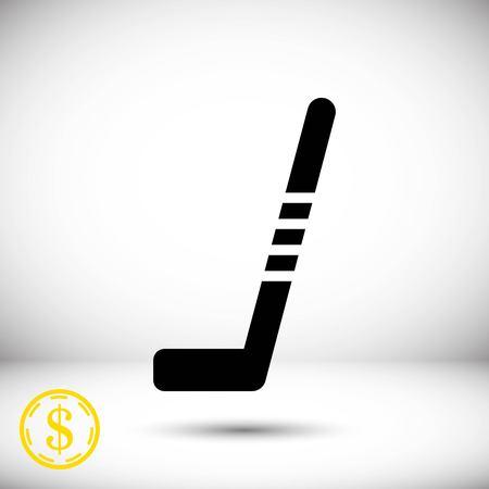 hockey stick icon stock vector illustration flat design