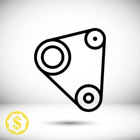 Timing belt icon stock vector illustration flat design