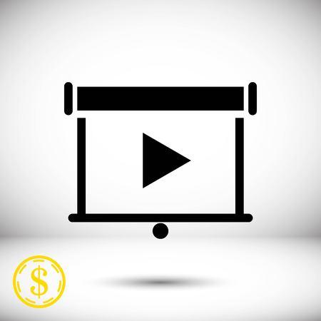 projector icon stock vector illustration flat design Stock Illustratie