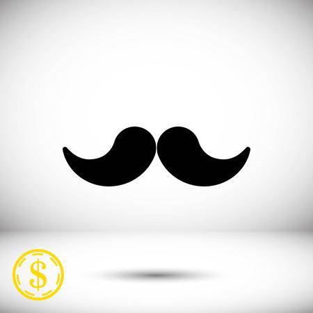 hair mask: mustache icon stock vector illustration flat design