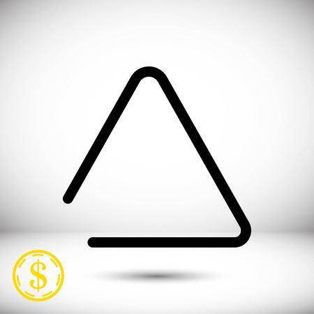 struck: icon stock vector illustration flat design style Illustration
