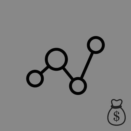 global communication: Social network icon stock vector illustration flat design