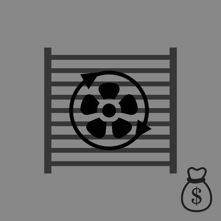 Radiator cooling system icon stock vector illustration flat design