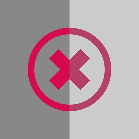 delete icon stock vector illustration flat design