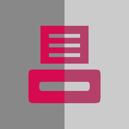 Print icon stock illustration flat design.