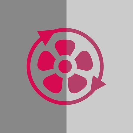 Fan air propeller icon stock illustration flat design.