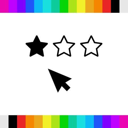 rating icon stock vector illustration flat design Illustration