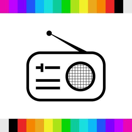 fm: radio icon stock vector illustration flat design