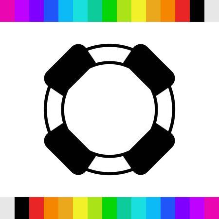lifeline icon stock vector illustration flat design