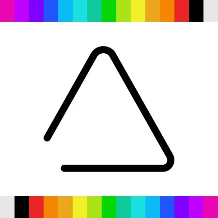musical metal triangle icon stock vector illustration flat design Illustration