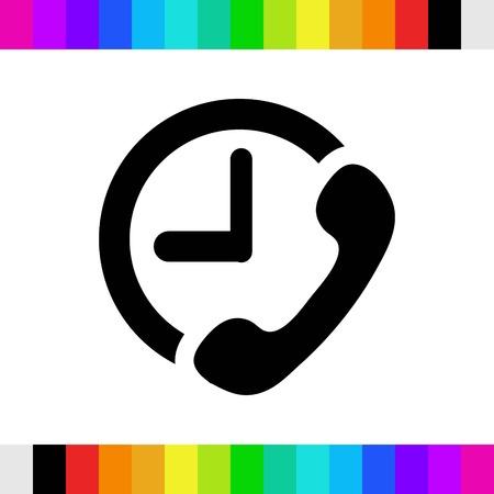 icon: phone icon stock vector illustration flat design Illustration