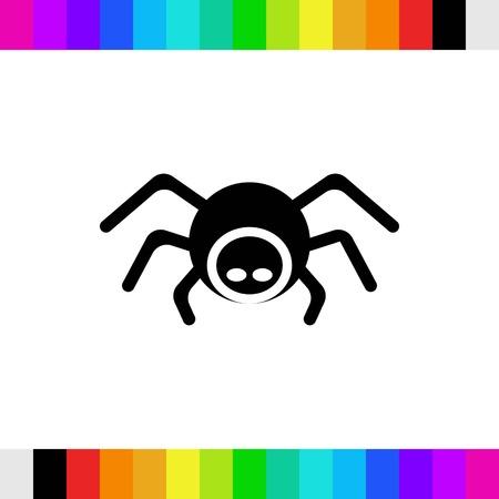 poison symbol: icon stock vector illustration flat design style Illustration