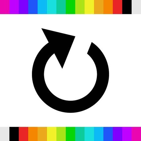reload icon stock vector illustration flat design Illustration
