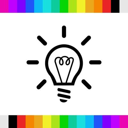 ampoule icône stocks illustration vectorielle design plat