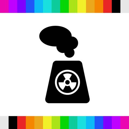 radioactive sign: icon stock vector illustration flat design style Illustration