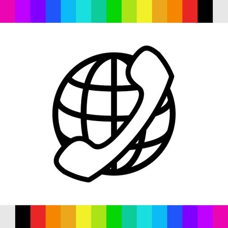 world receiver: international call icon stock vector illustration flat design